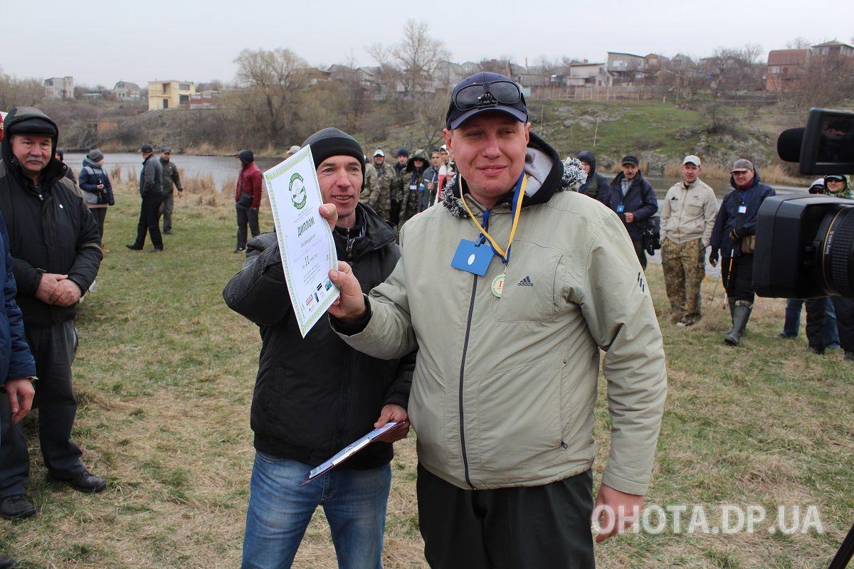Второе место на рыболовном фестивале стал Мирославский Андрей